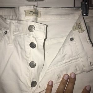 White Button Up Skinny Jeans